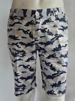 Blue Grey Camouflage Shorts