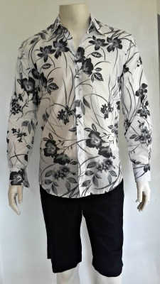 Lightweight Charcoal Large Tropical Floral