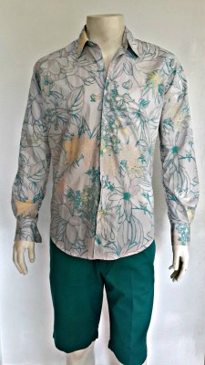 Teal Large Tropical Floral