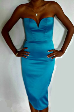 Bali Blue Satin Dress