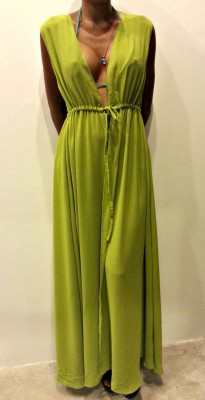 Lime Green Chiffon Beach Wrap